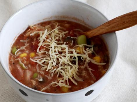 オートミールのトマトチーズスープ