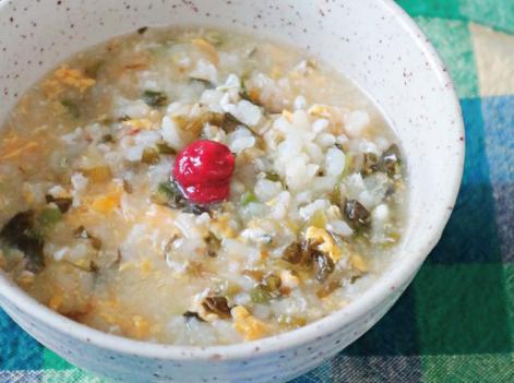 高菜と卵のおかゆ