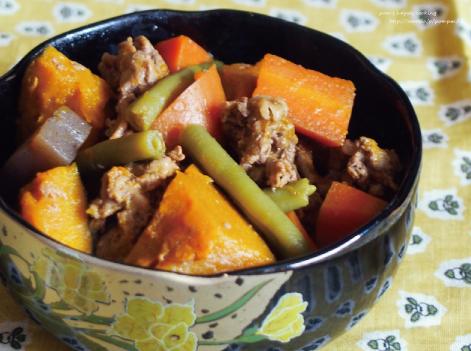 牛肉とかぼちゃの煮物