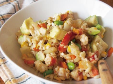 たっぷり野菜の海老炒飯