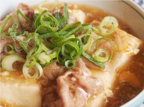 とろ~りあったか、豆腐と豚肉の煮物