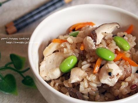 鶏と椎茸の炊き込みご飯