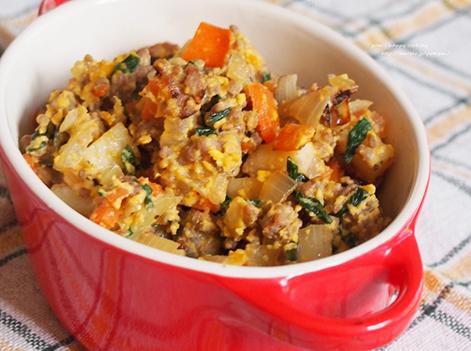 たっぷり野菜と合いびき肉の卵そぼろ