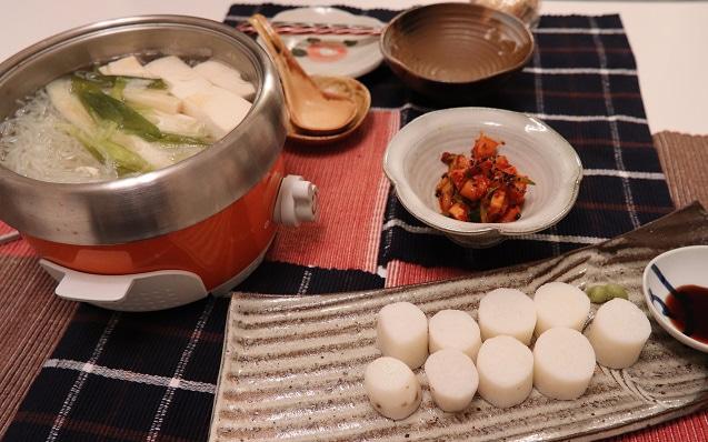 贅沢ロースト出汁で作るヘルシー湯豆腐