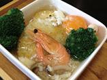 だしパックを使用したえびと野菜のおこげスープご飯のレシピ画像