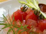 だしパックを使用したプチトマトのおすましジュレのレシピ画像